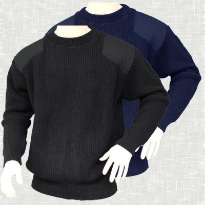 Fisherman's Rib Jumper with Patches | 5017