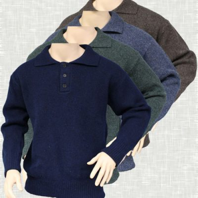 Collar & 3 Buttons Jumper | 6032