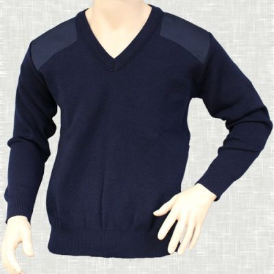 Vee Neck Patch Jumper | V220SP
