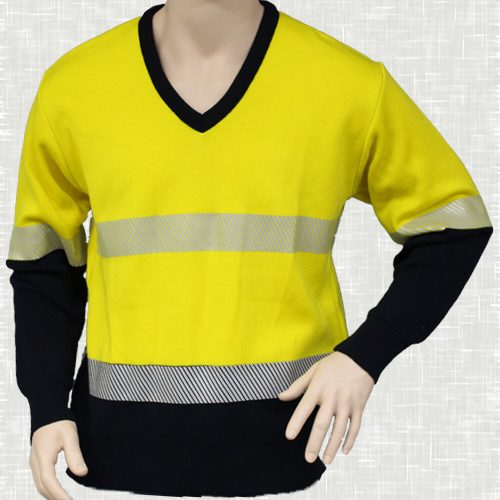 HiVis V Neck Pullover with Tape (Yellow) | V26HVT
