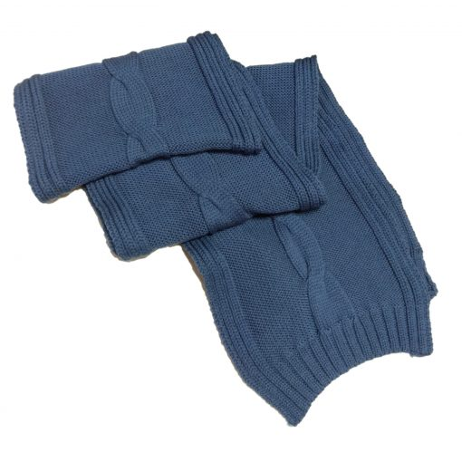 BGS08 Single Cable Pure Merino Wool Scarf in Junior Navy Colour