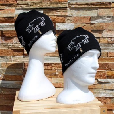 SHEEP BEANIE BLACK SMOKE