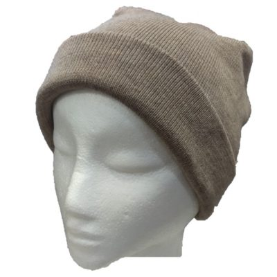 BGB36 Ballarat Gold Pure Wool Fine Knit Beanie in Camel Colour