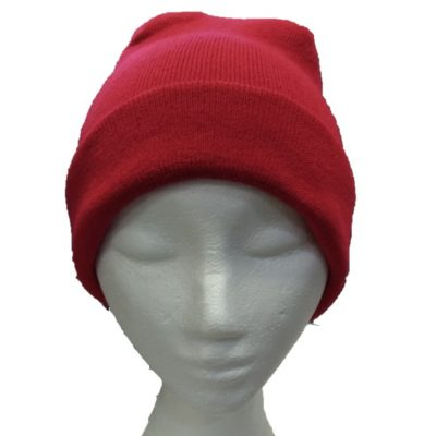 BGB36 Ballarat Gold Pure Wool Fine Knit Beanie in Flame Red Colour