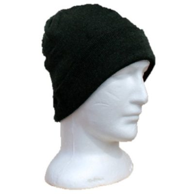 BGB36 Ballarat Gold Pure Wool Fine Knit Beanie in Forest Colour