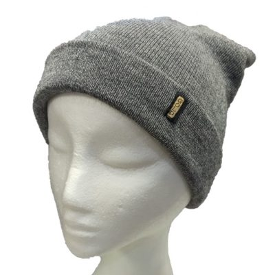 BGB36 Ballarat Gold Pure Wool Fine Knit Beanie in Koala Colour