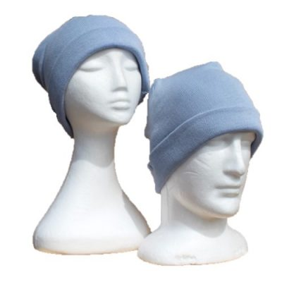 BGB36 Ballarat Gold Pure Wool Fine Knit Beanie in Powder Blue Colour