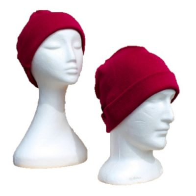 BGB36 Ballarat Gold Pure Wool Fine Knit Beanie in Raspberry Colour