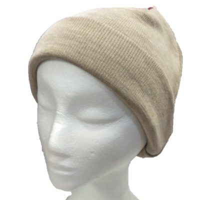 BGB36 Ballarat Gold Pure Wool Fine Knit Beanie in Sand Colour