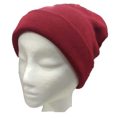 BGB36 Ballarat Gold Pure Wool Fine Knit Beanie in Sangria Colour