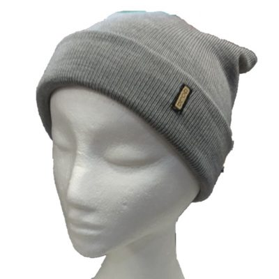 BGB36 Ballarat Gold Pure Wool Fine Knit Beanie in Silver Colour