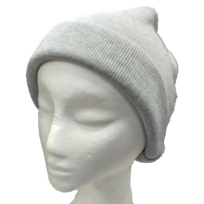 BGB36 Ballarat Gold Pure Wool Fine Knit Beanie in Smoke Colour