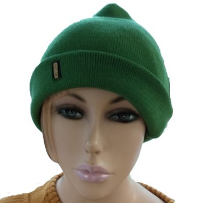 BGB36 Ballarat Gold Pure Wool Fine Knit Beanie in Apple Colour