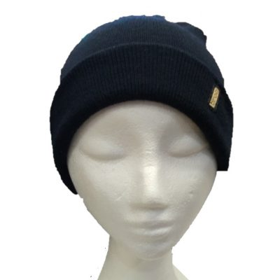 BGB36 Ballarat Gold Pure Wool Fine Knit Beanie in Ink Navy Colour