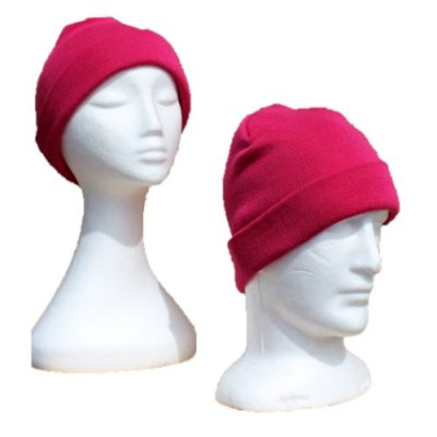 BGB36 Ballarat Gold Pure Wool Fine Knit Beanie in Magenta Colour