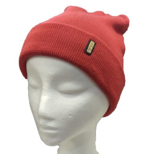 BGB36 Ballarat Gold Pure Wool Fine Knit Beanie in Tangerine Colour