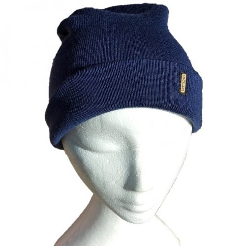 BGB36 Ballarat Gold Pure Wool Fine Knit Beanie in Atlantic Colour