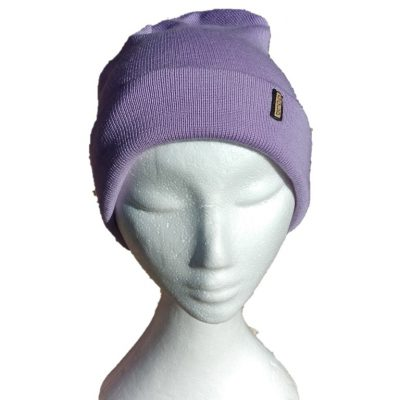 BGB36 Ballarat Gold Pure Wool Fine Knit Beanie in Lilac Colour