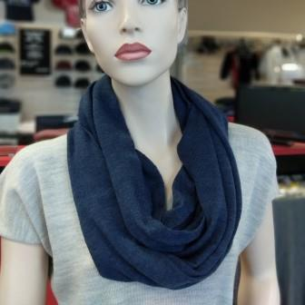 Ballarat Gold Pure Wool Scarf Jersey Loop Infinity Scarf in Blue Mix Colour