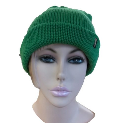 BGB31 Ballarat Gold Pure Wool Thick Knit Beanie in Apple Colour