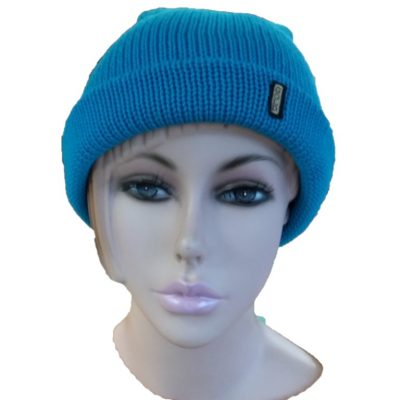 BGB31 Ballarat Gold Pure Wool Thick Knit Beanie in Cyan Colour