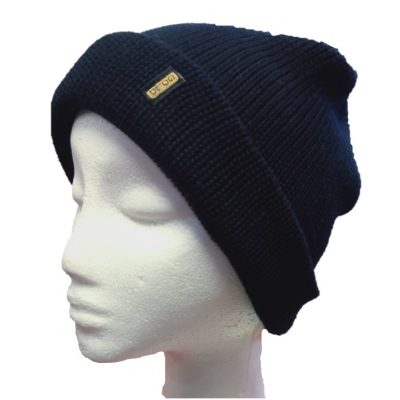 BGB31 Ballarat Gold Pure Wool Thick Knit Beanie in Navy