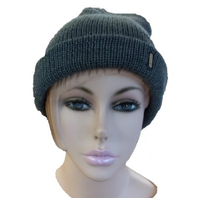 BGB31 Ballarat Gold Pure Wool Thick Knit Beanie in Wallaby Colour