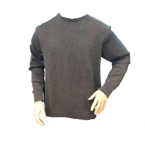 Ballarat Gold Mens Pure Wool Crew Neck Jumper in Casino Mix Colour