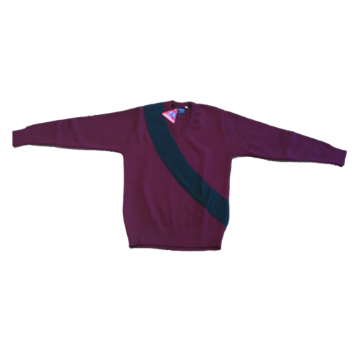 Smythesdale Pony Club Jumper Front Flat Arms Stretched