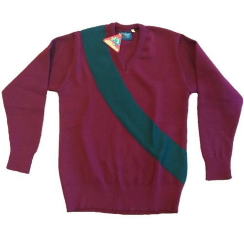 Smythesdale Pony Club Jumper Front Flat Arms folded